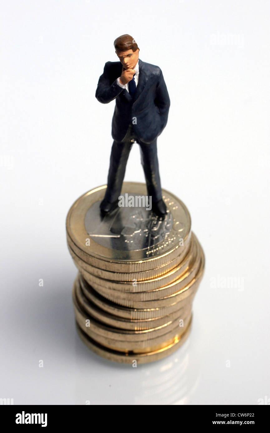Figur Mit 1 Euro Münze Usa Amerika Stockfoto Bild 49936154 Alamy