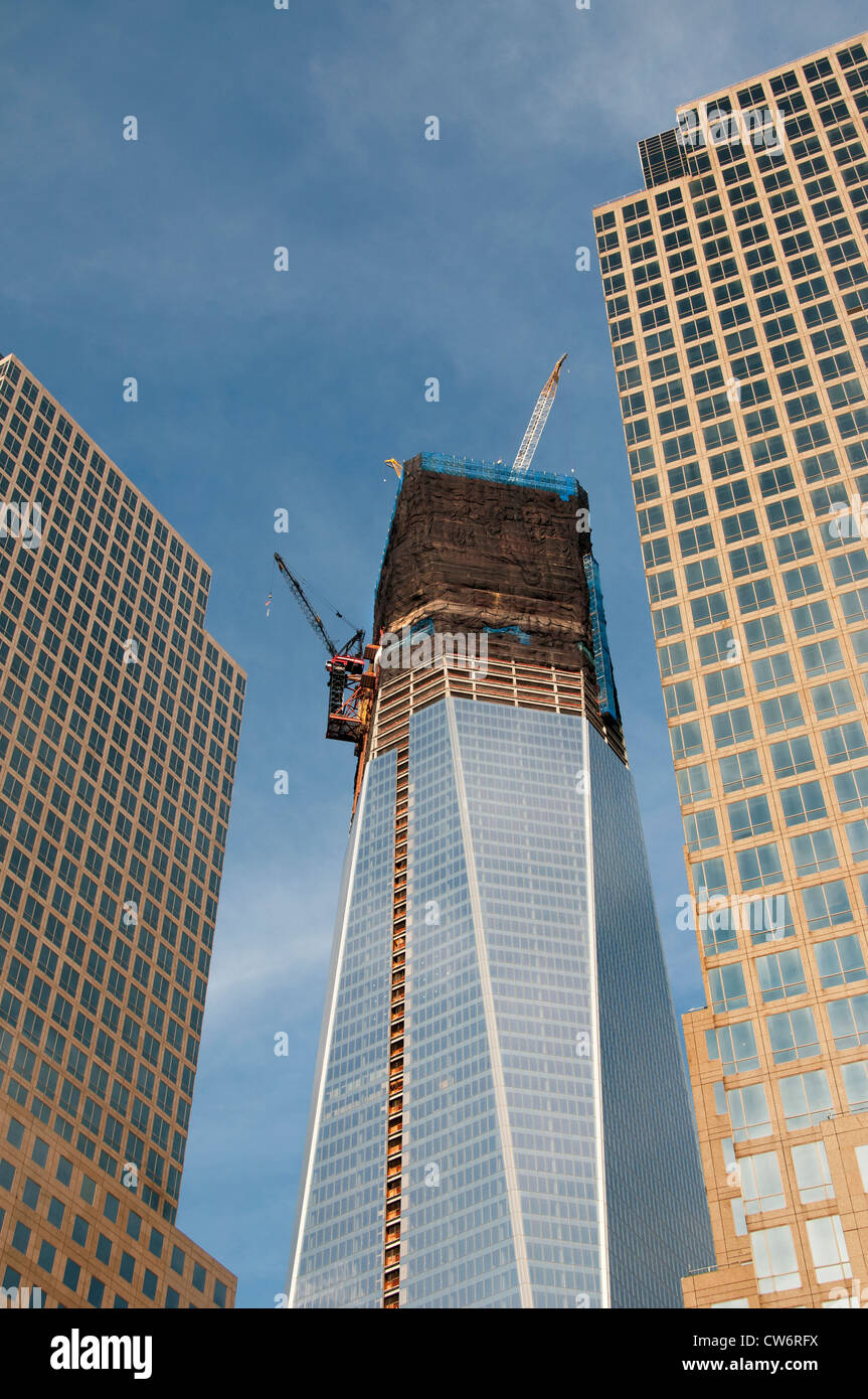 Financial Center Hintergrund Freedom Tower oder Turm ein World Trade Center New York City Manhattan Stockbild