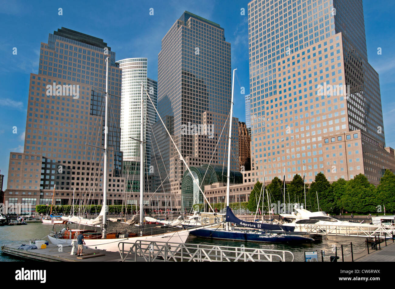 Finanzielle Zentrum Hafen Port One World Trade Center New York City Manhattan Stockbild