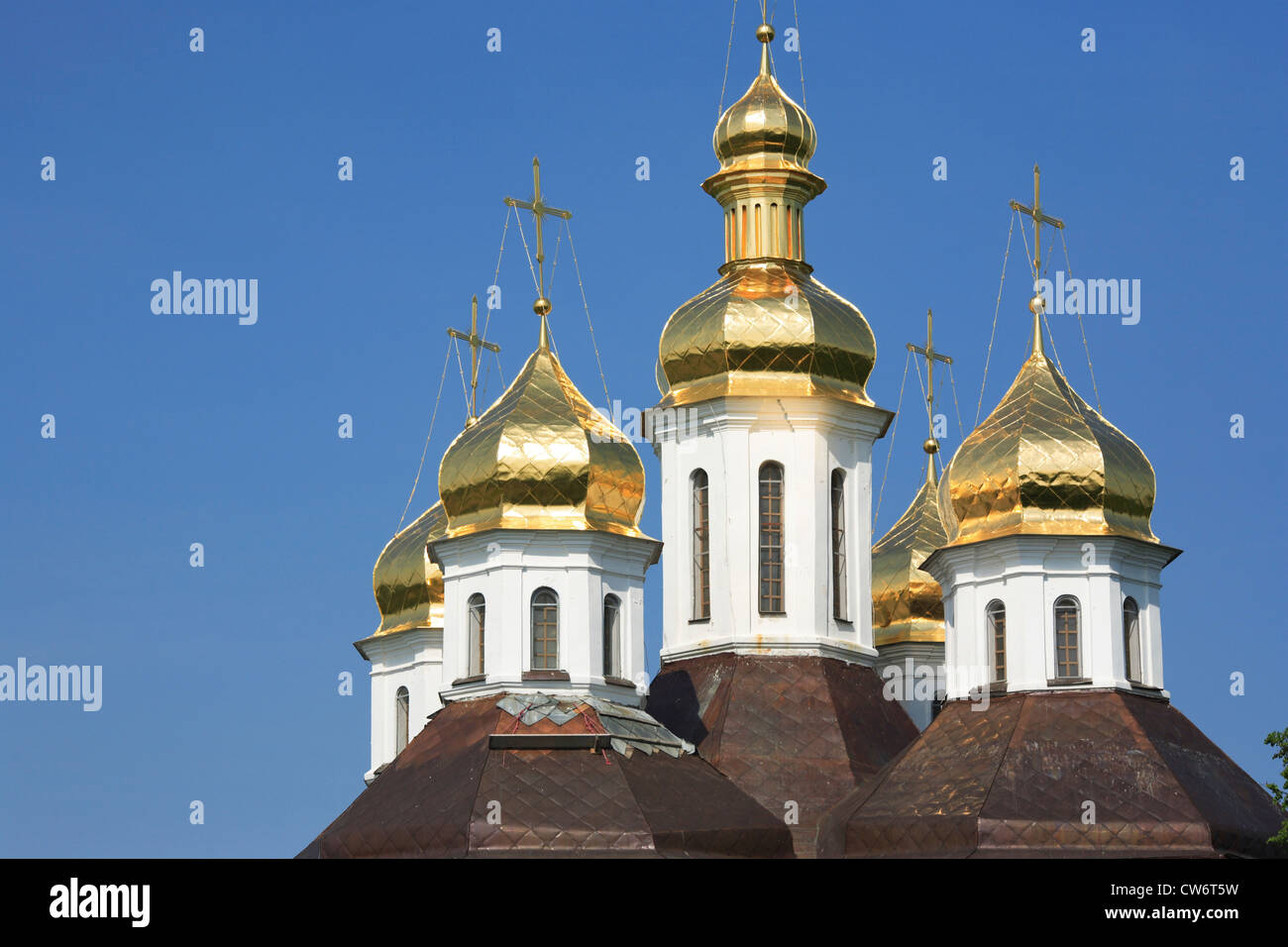 St. Katharinen-Kirche (18. Jahrhundert), Ukraine, Chernigov Stockbild