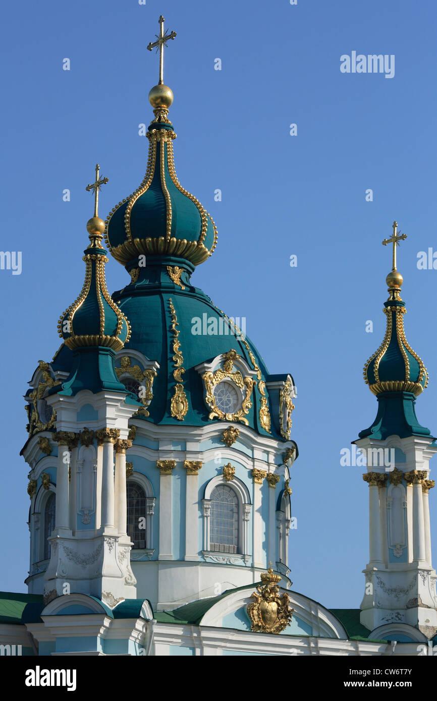 Kirche des Hl. Andreas (18. Jahrhundert), Ukraine, Kiew Stockbild