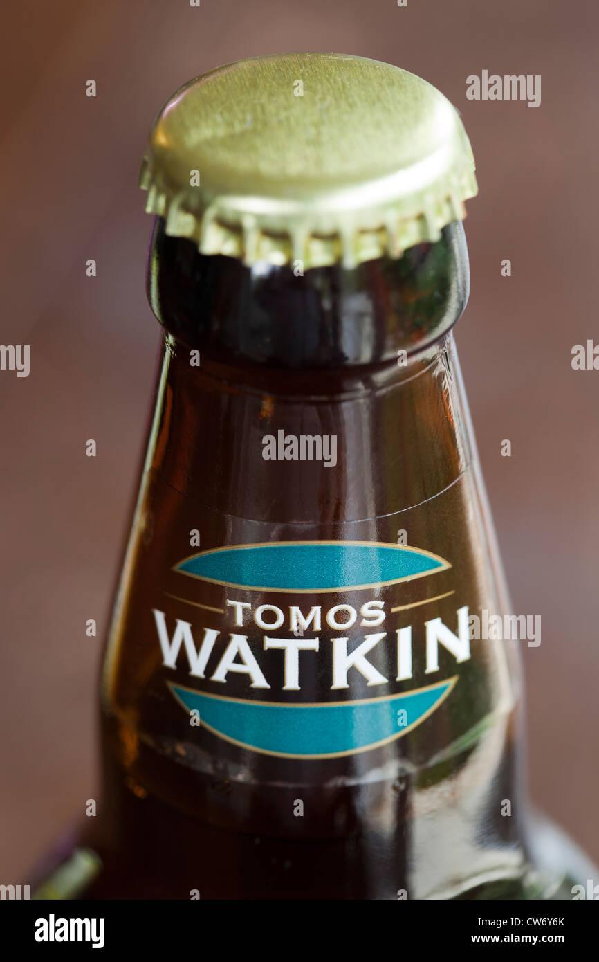 Tomos Watkin walisischen Bierflasche Stockbild