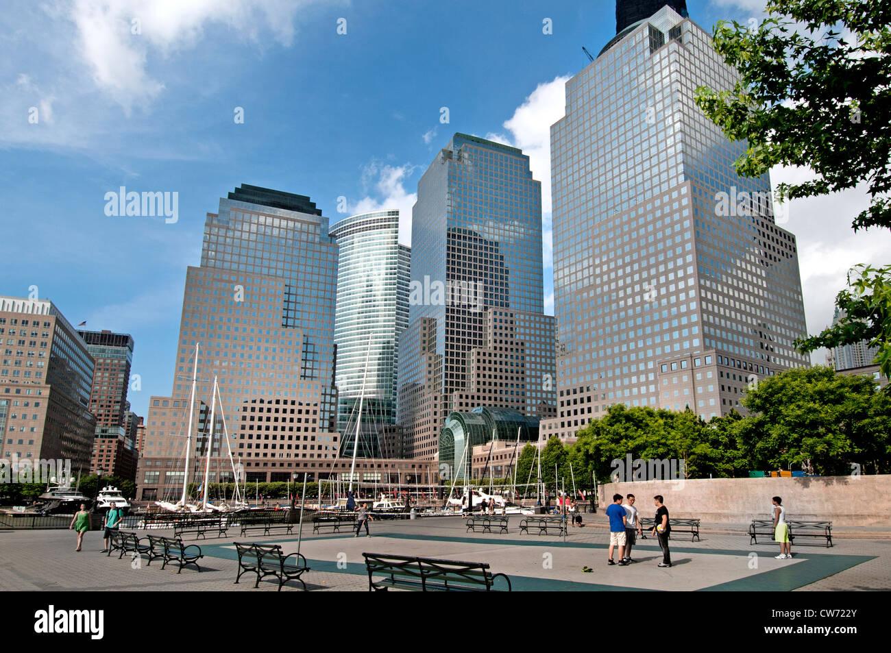 Finanzielle Zentrum Hafen Port One World Trade Center New York City Manhattan Stockbild
