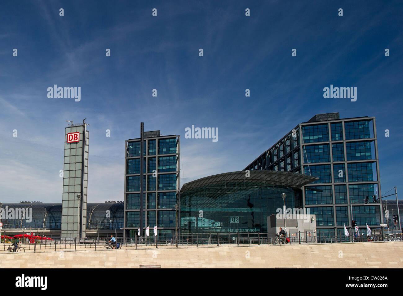 Der Berliner Hauptbahnhof Stockfoto
