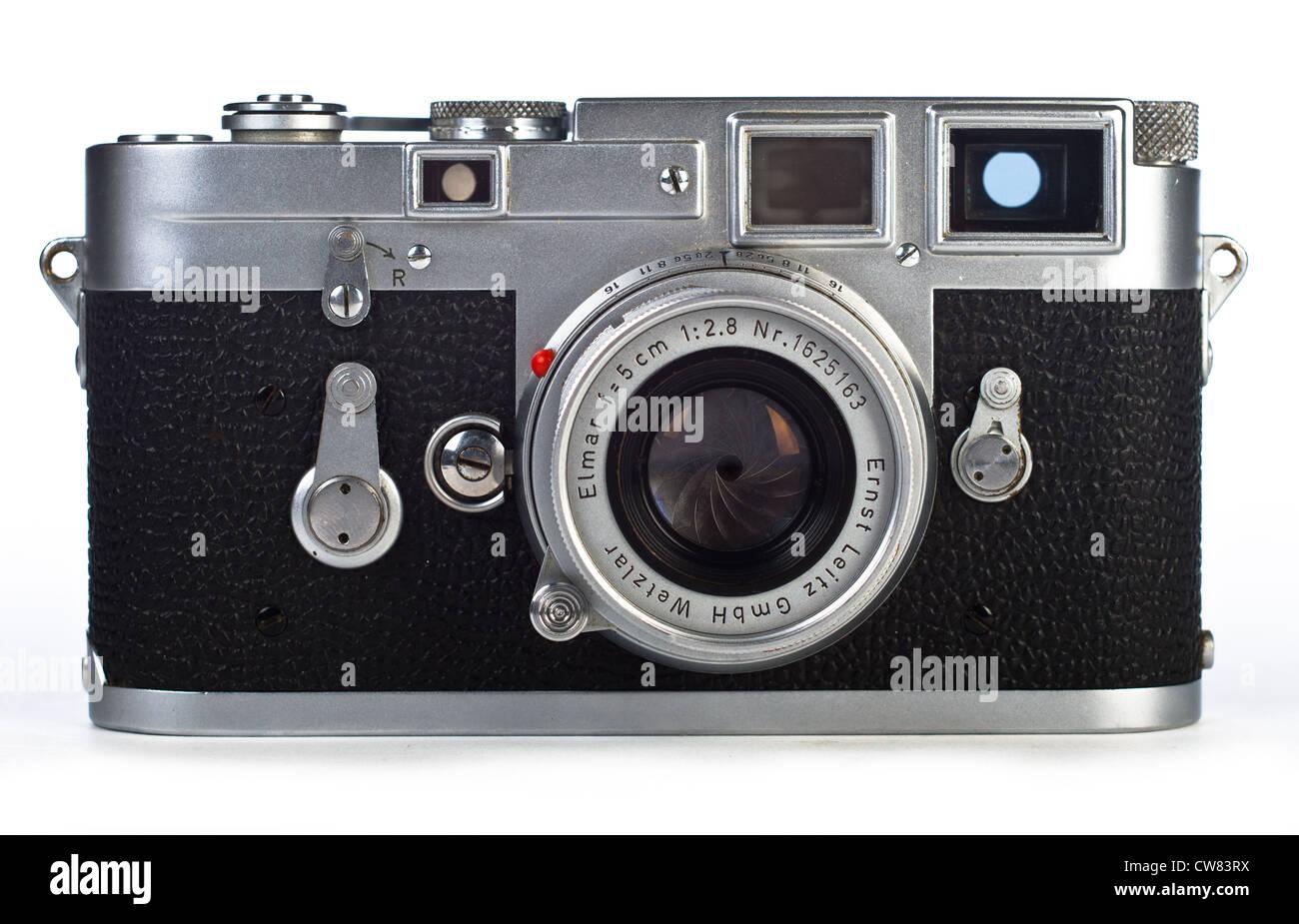 Leica m leitz entfernungsmesser kamera auf weißem hintergrund mit