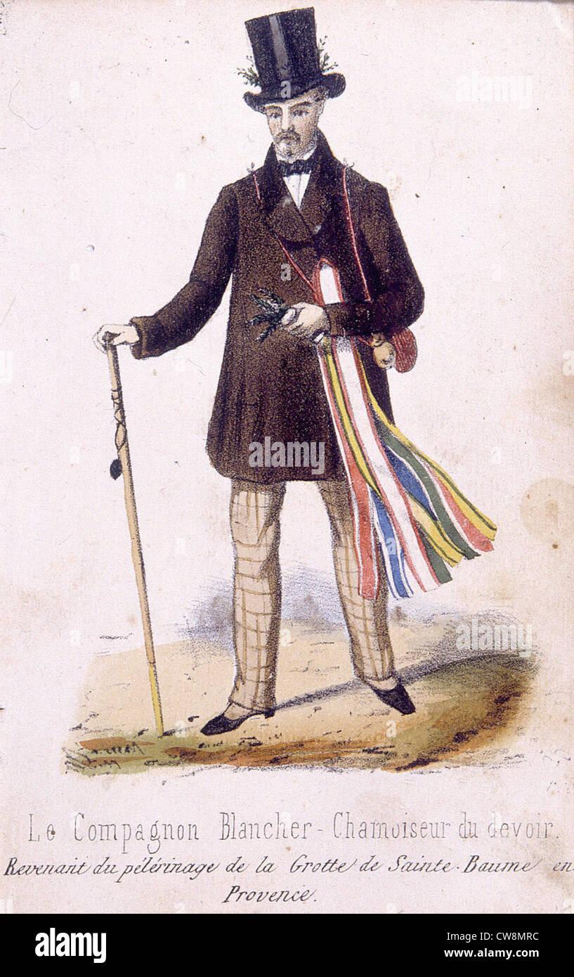 Vergoldung des 19. Jahrhunderts, Illustrationen Stockbild