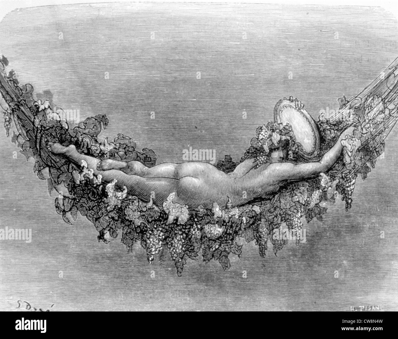 Rabelais, Illustration von Gustave Doré Stockbild