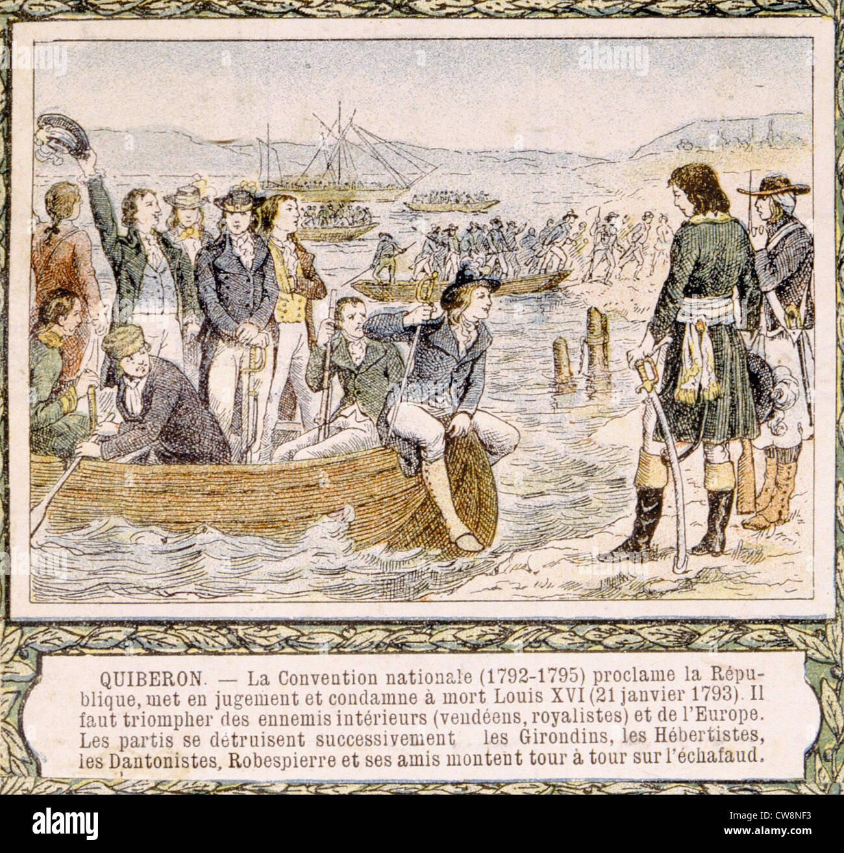 Französische Revolution von 1789, Illustrationen Stockbild