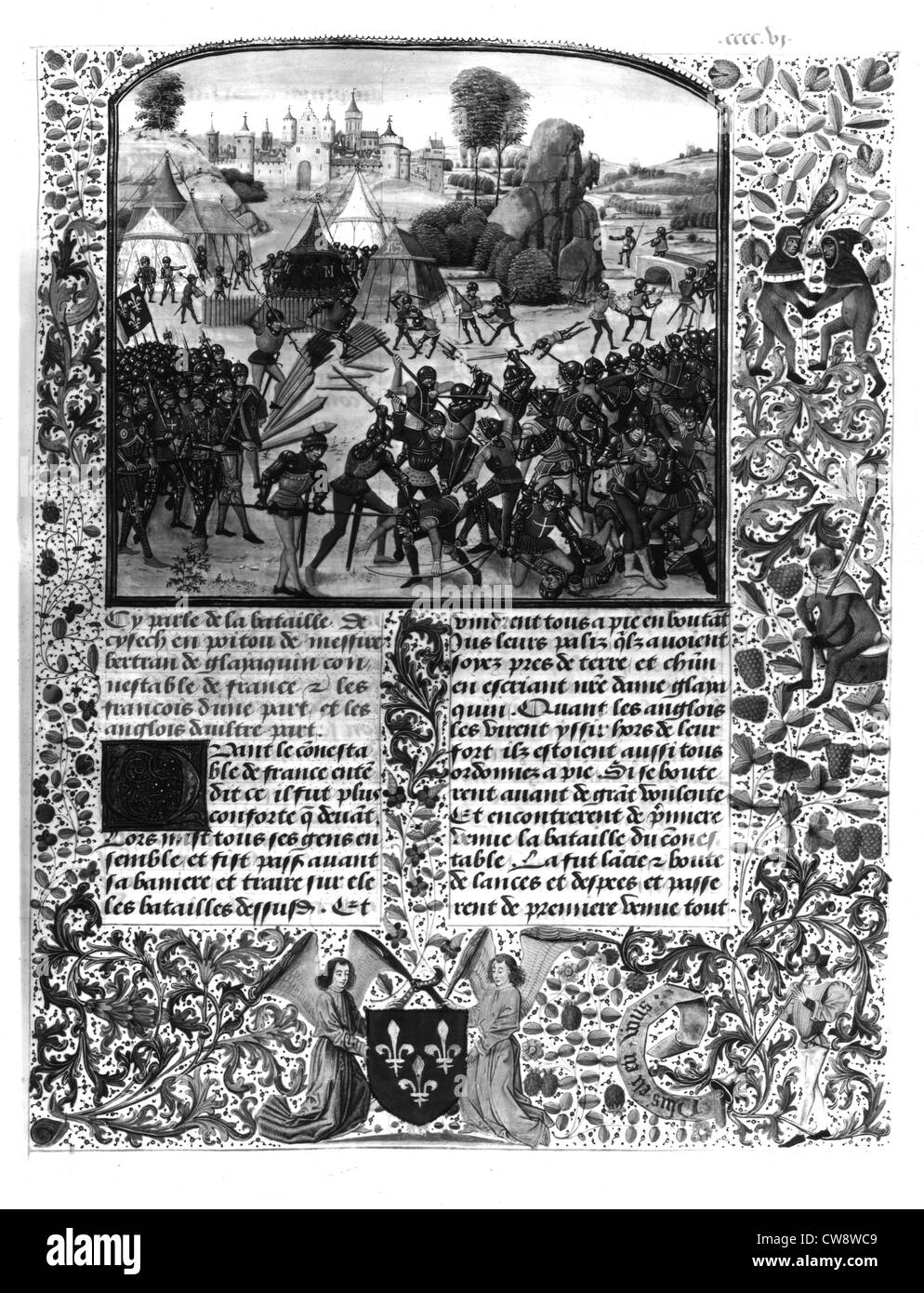 Du Guesclin genommen Gefangener im Jahre 1367 Stockbild