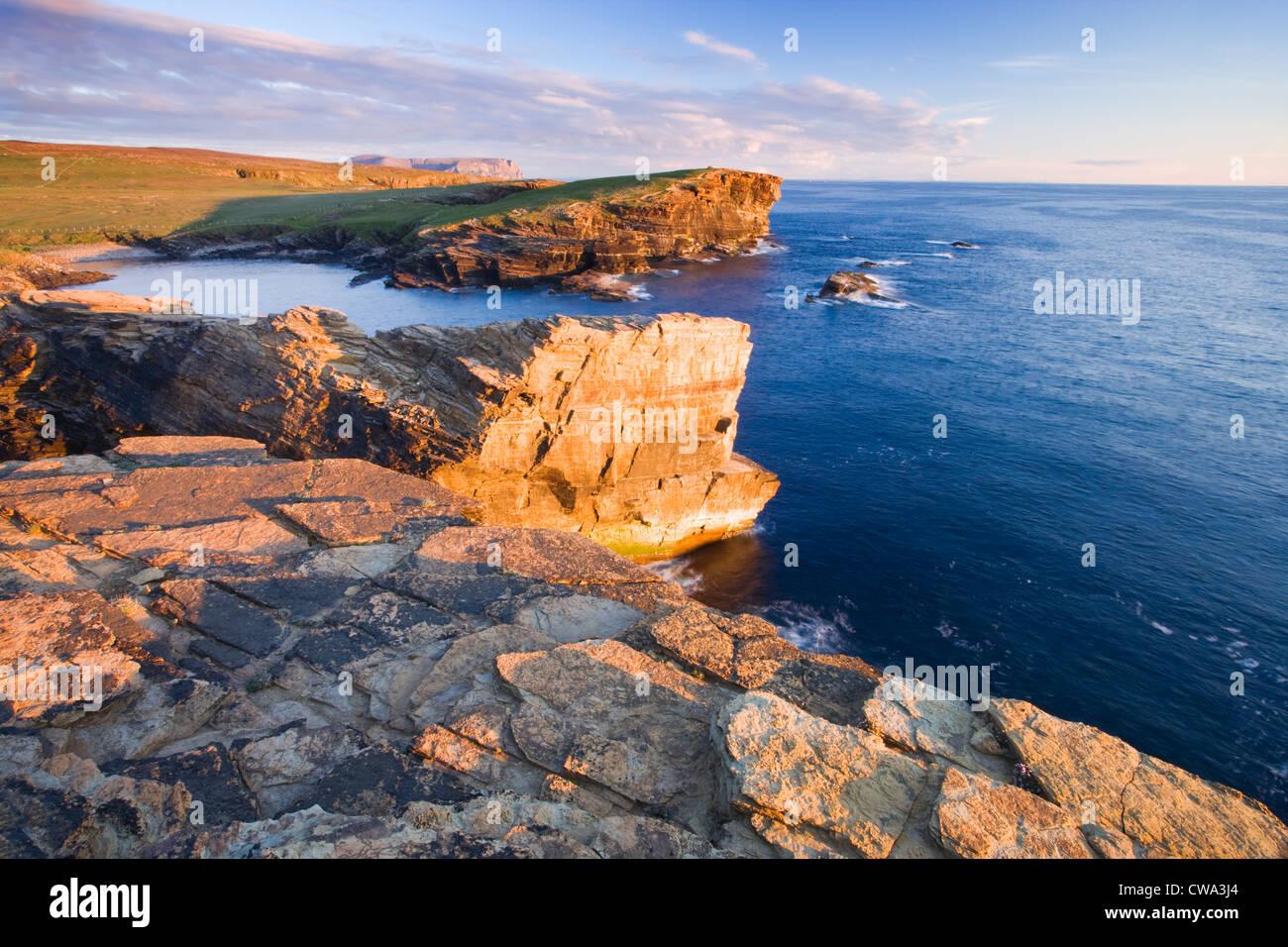 Yesnaby, Orkney, Schottland, Großbritannien. Stockbild