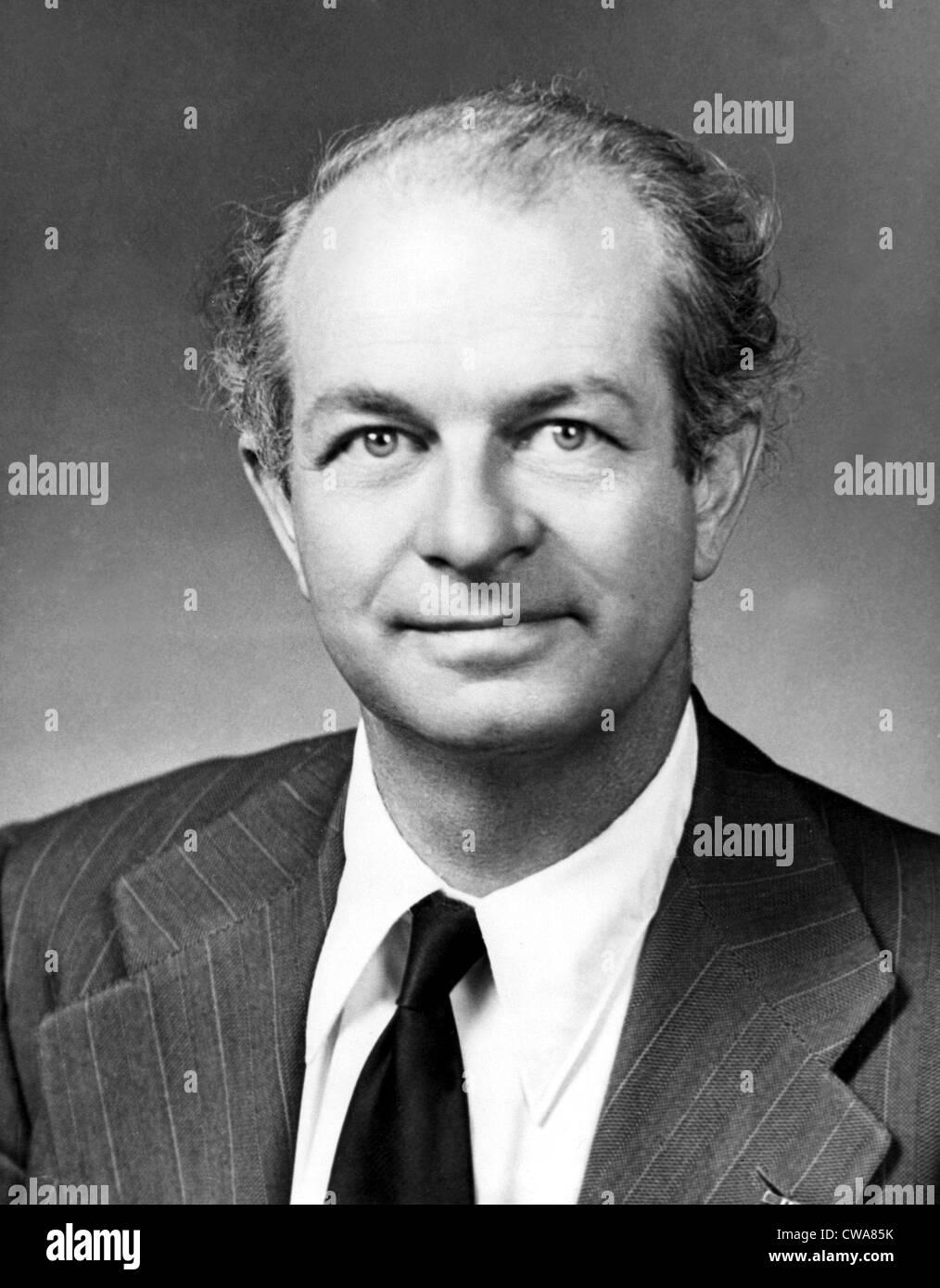 Dr. Linus Pauling im Jahr 1960. Pauling ist der Gewinner des Nobelpreises für Chemie 1954 und Empfänger Stockbild