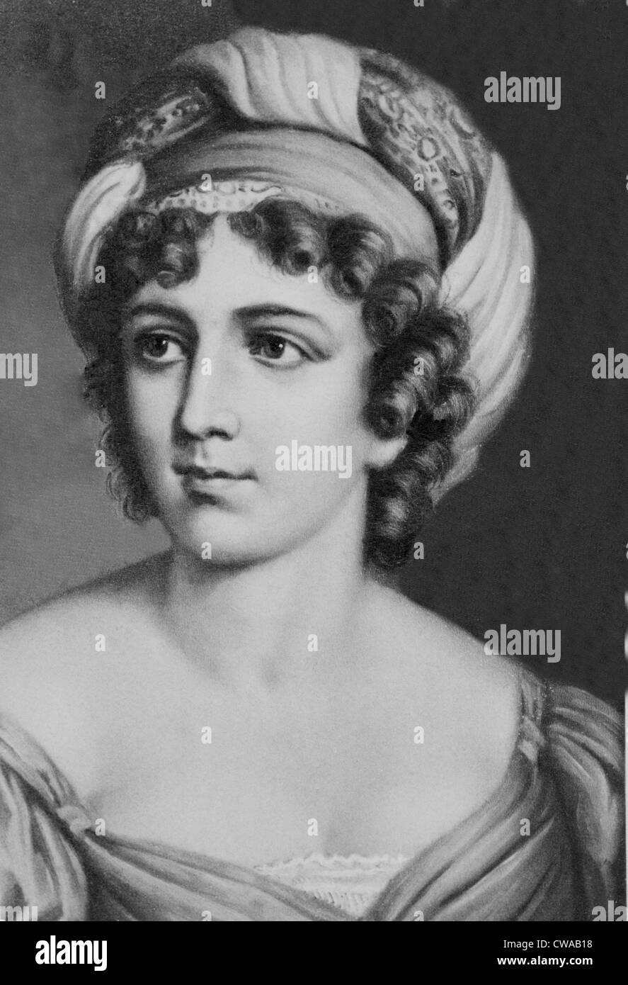 Madame de Staël (1766-1817) ein vielseitiger Schriftsteller, aber besser als Katalysator für das entstehen Stockbild