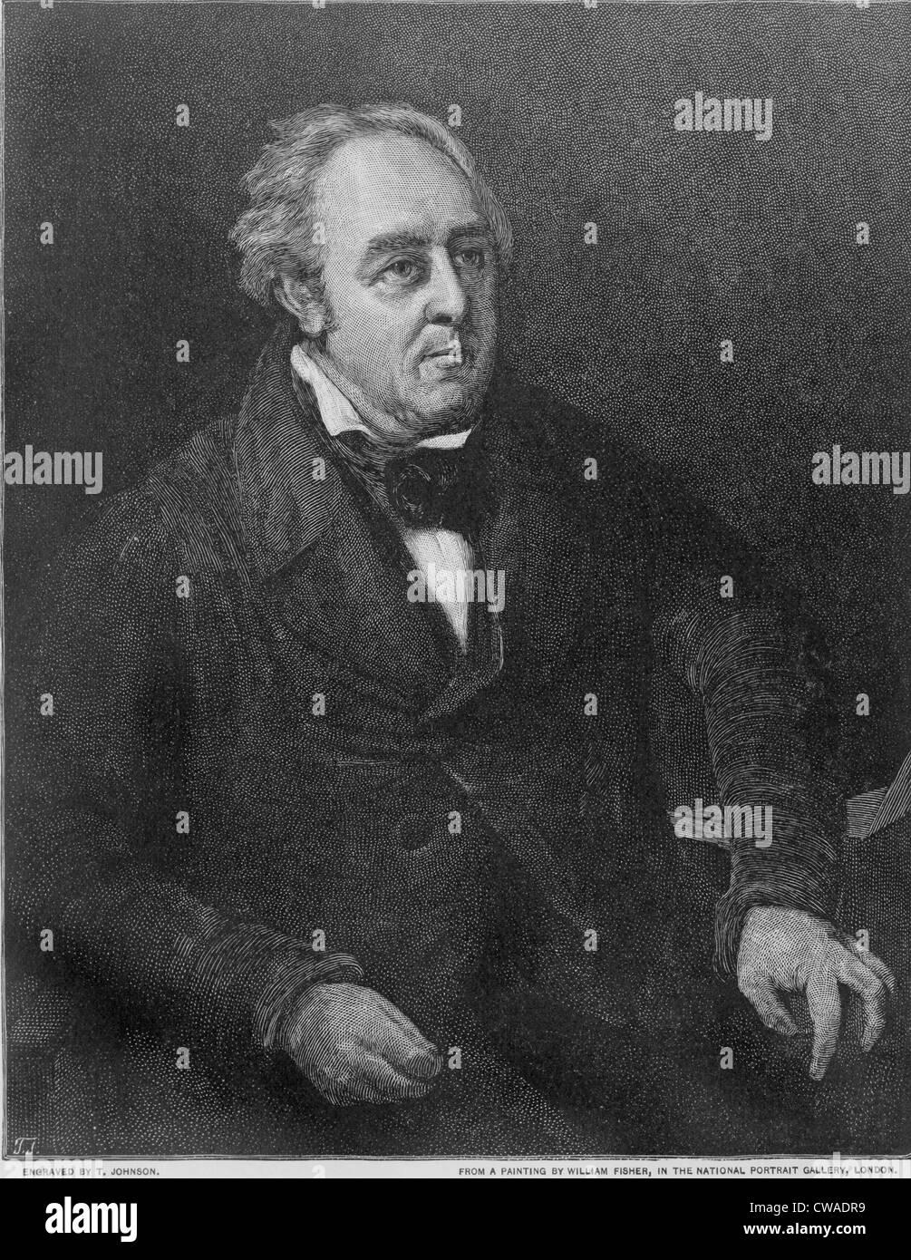 Walter Savage Landor (1775-1864), englischer Schriftsteller von IMAGINARY CONVERSATIONS, Dialoge zwischen historischer Stockbild