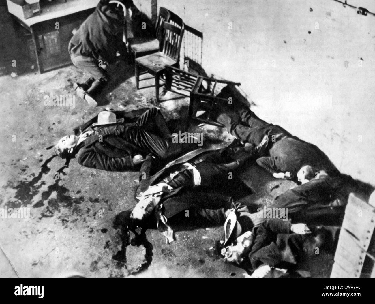 Gangster, dem Valentinstag-Massaker, Chicago, 14. Februar 1929 ...