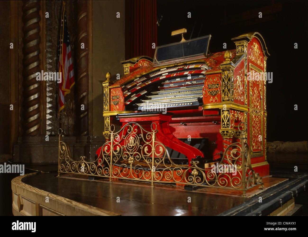 Das Alabama Theater Orgel, Birmingham, Alabama, 1927, Foto ca. 1990er Jahren errichtet. Stockbild