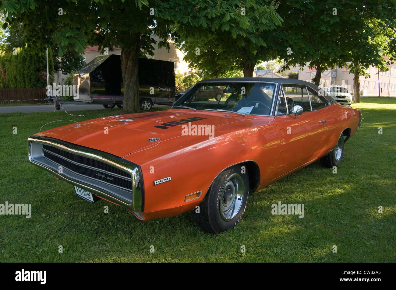 dodge charger klassischen muscle-car autos hemi orange 500 1969