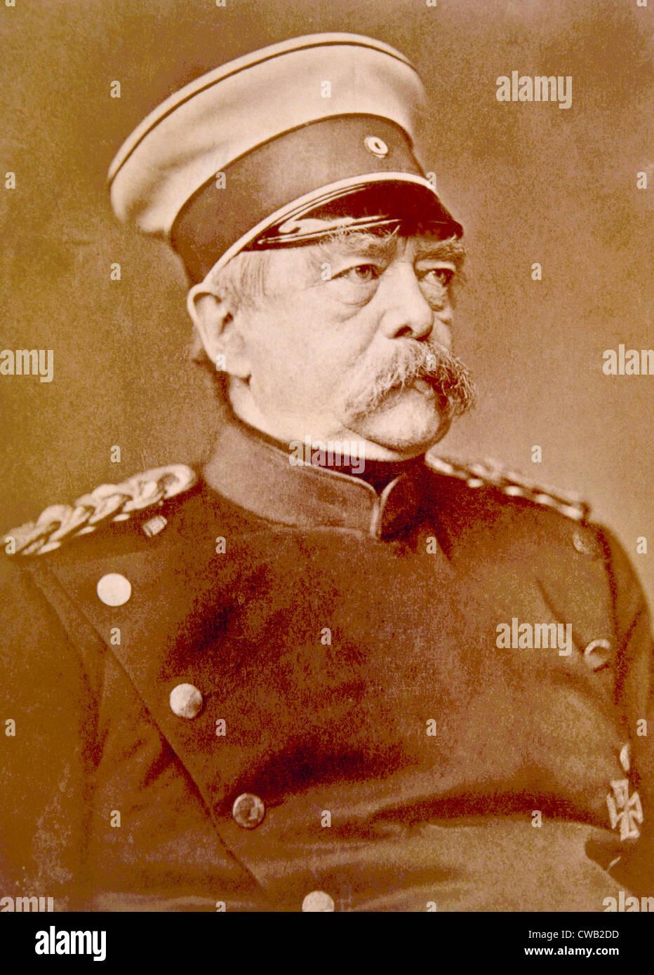 Otto von Bismarck (1815-1898), Bundeskanzler der Bundesrepublik Deutschland, bekannt als der Eiserne Kanzler, ca. Stockbild