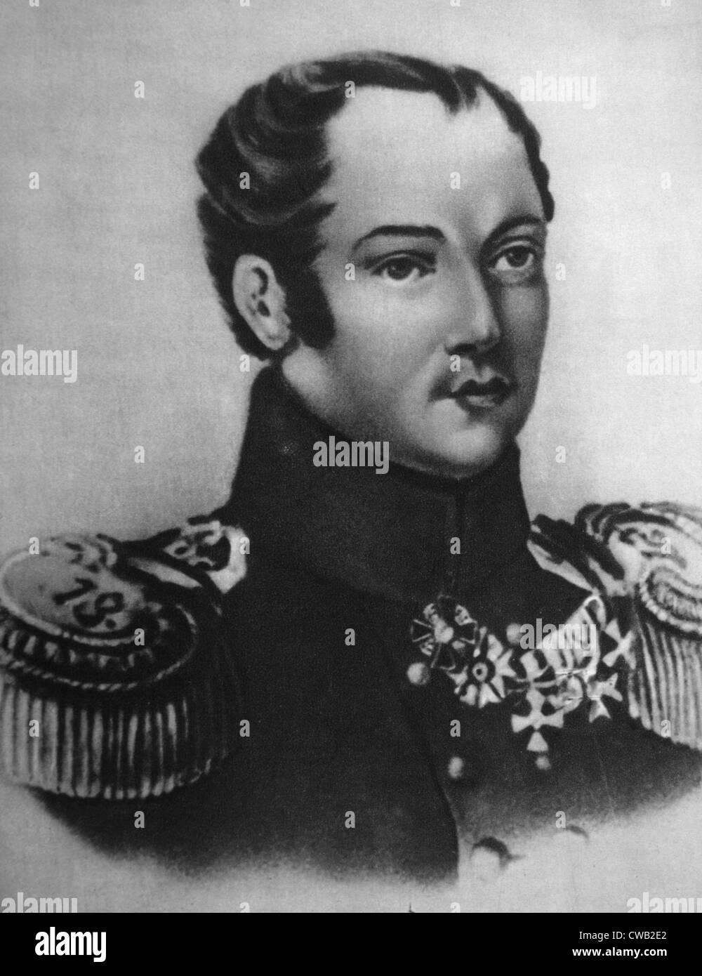 Paul Pestel, Führer der Dekabristen Revolution in Russland im Jahre 1825 Stockbild