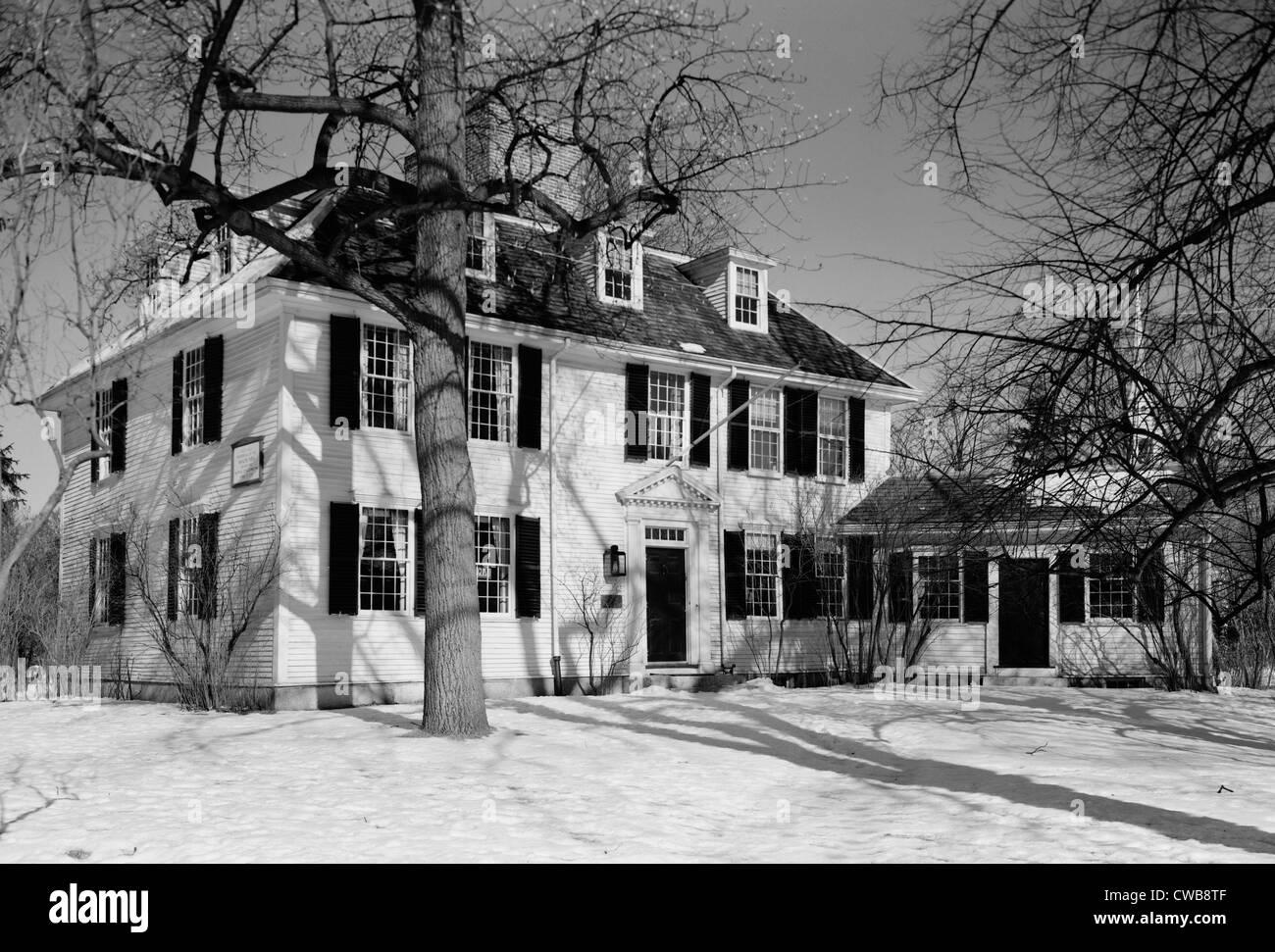 Die amerikanische Revolution. Buckman Tavern, Sitz des kolonialen Milizen Lexington, Massachusetts. Stockbild