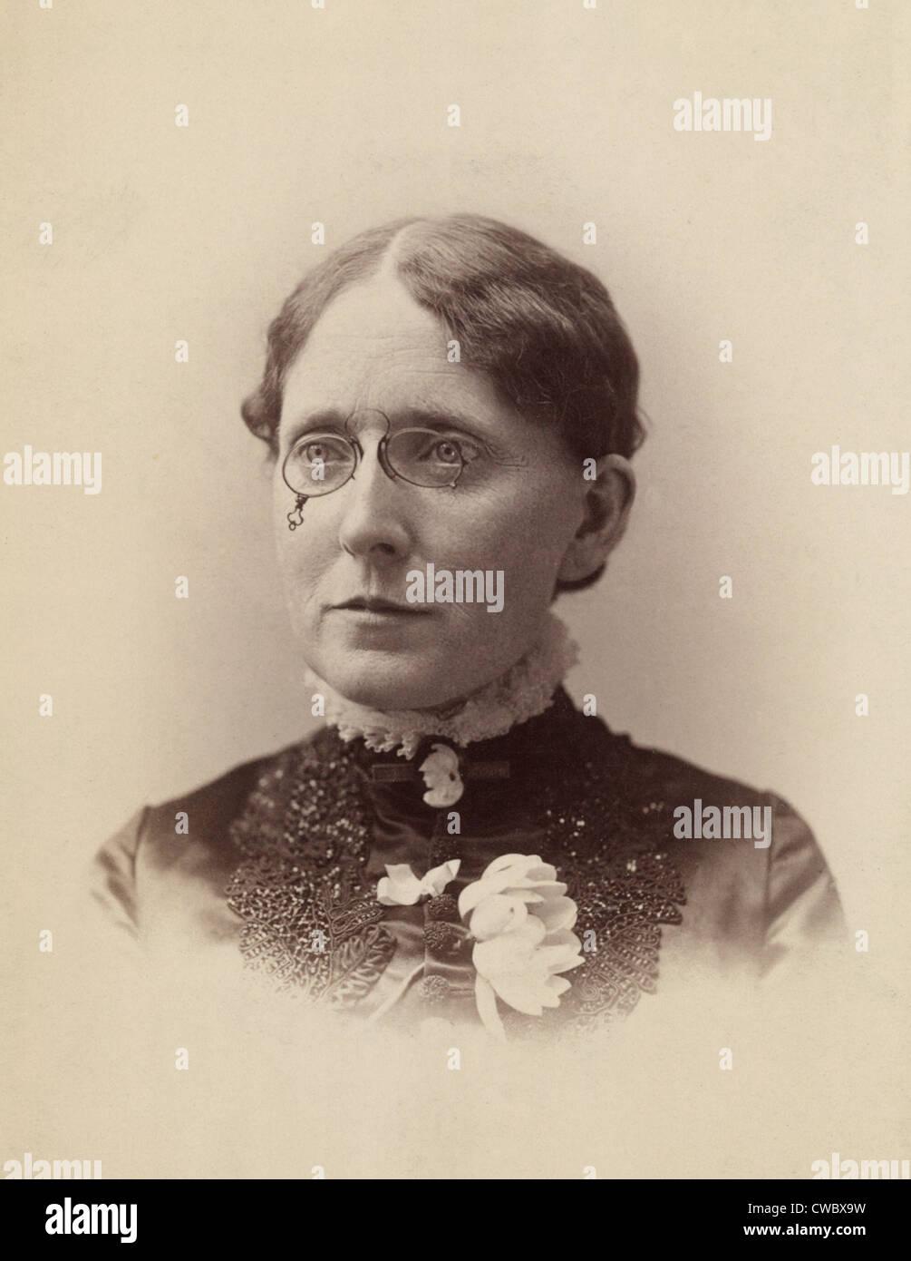Frances Willard (1839-1898), American Temperance Reformer und Frauen Suffragette, die einflussreich in der Passage Stockbild