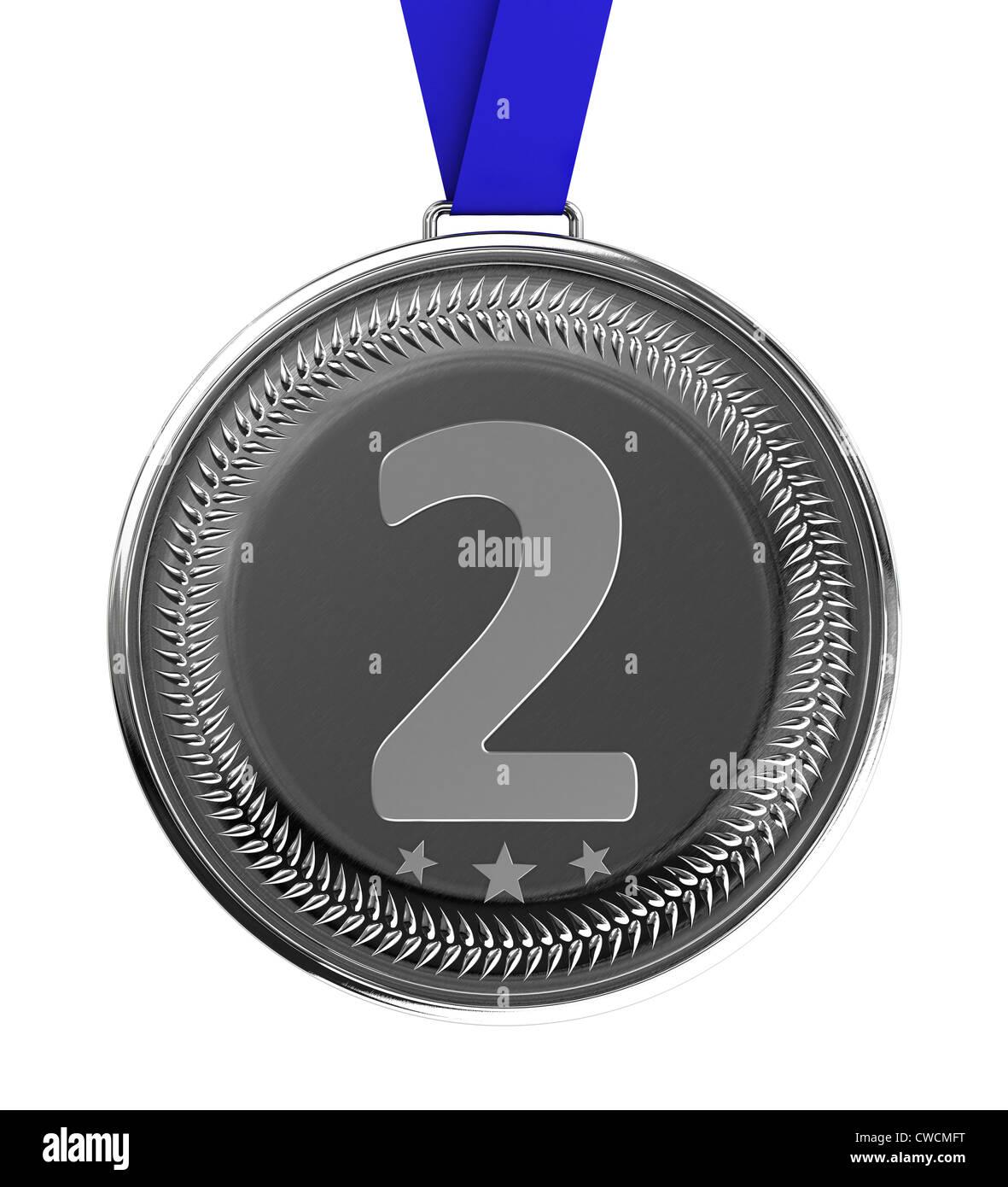 Silber Medaille Stockbild
