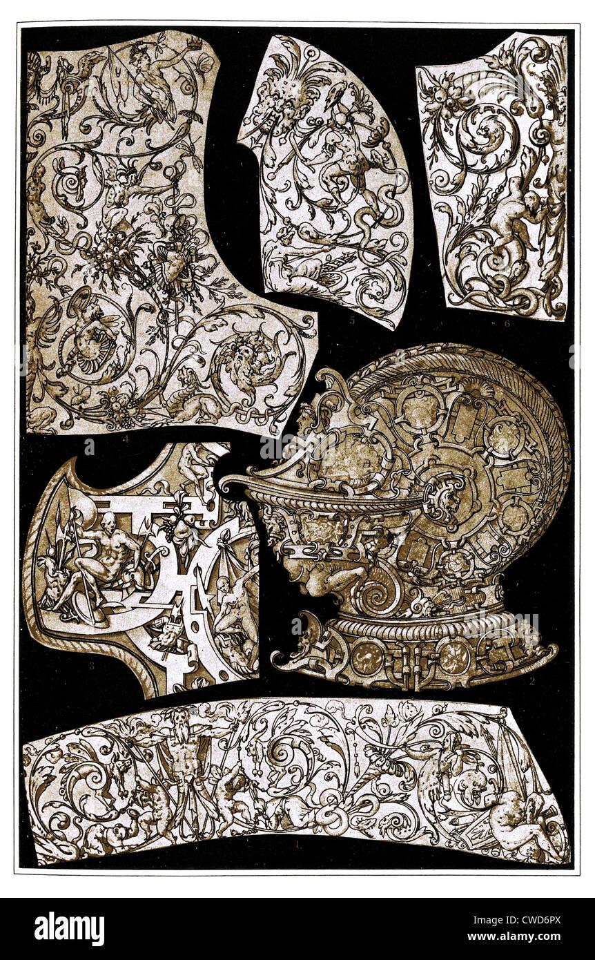 Deutsche Renaissance Metallarbeiten Stockbild
