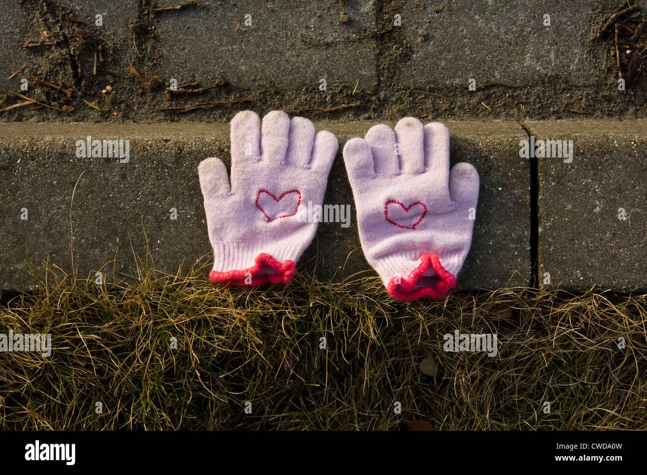 Handschuh, Fundsachen Stockbild