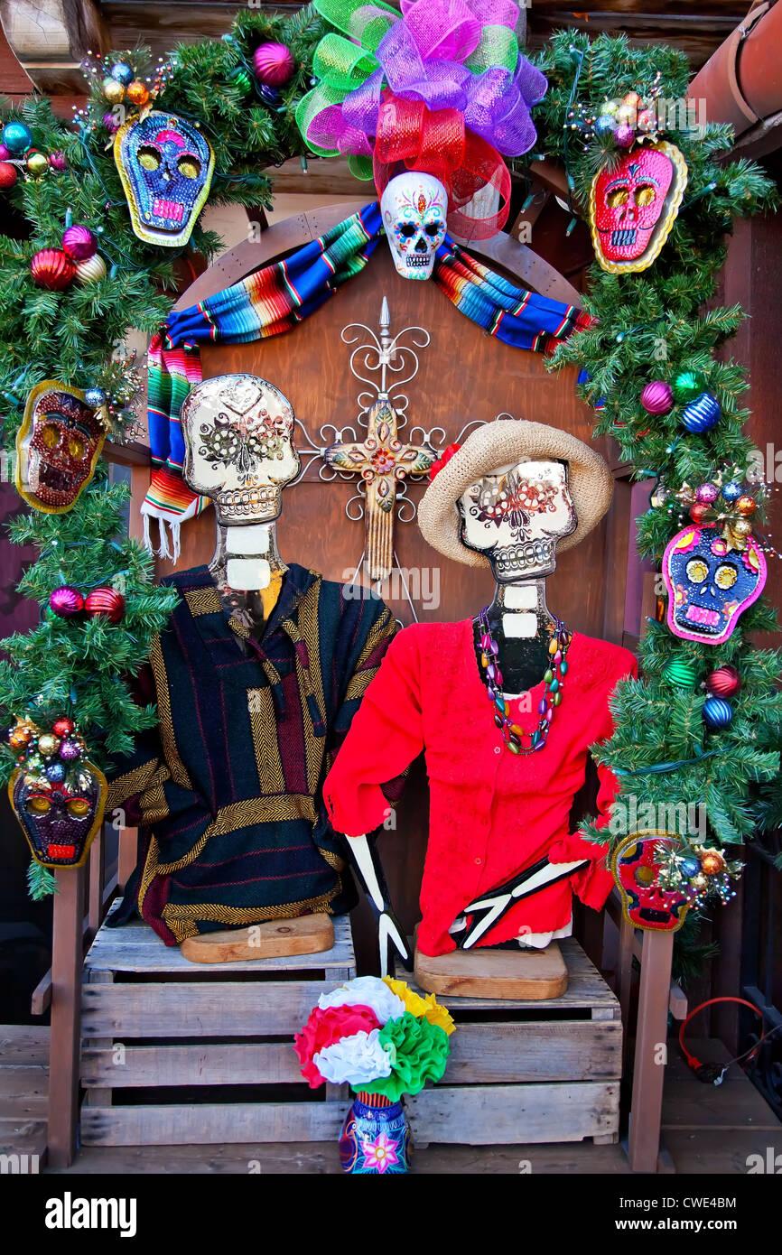 Mexikanische Weihnachten Toten Dekorationen San Diego Altstadt ...