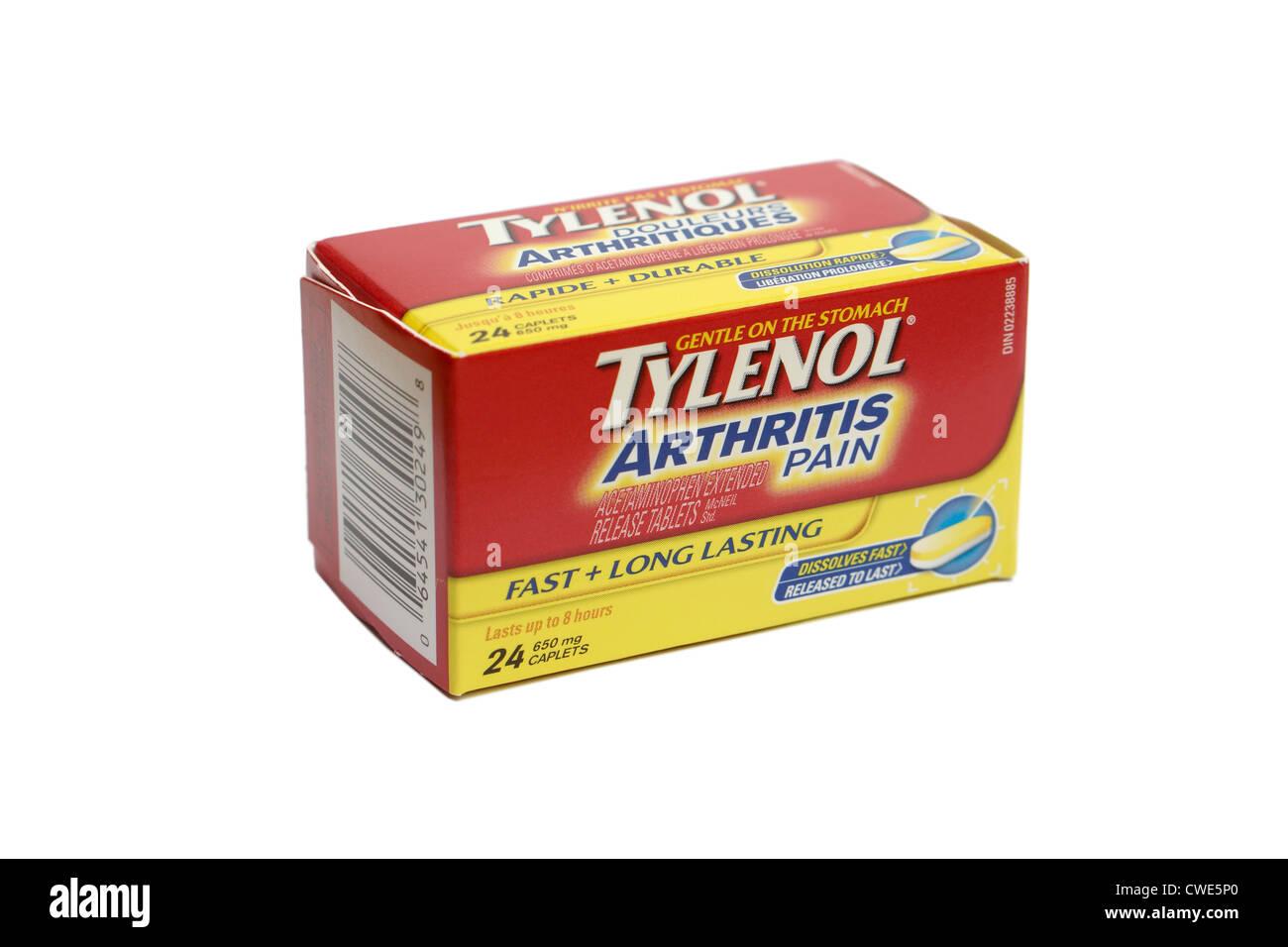 Tylenol Arthritis Stockbild
