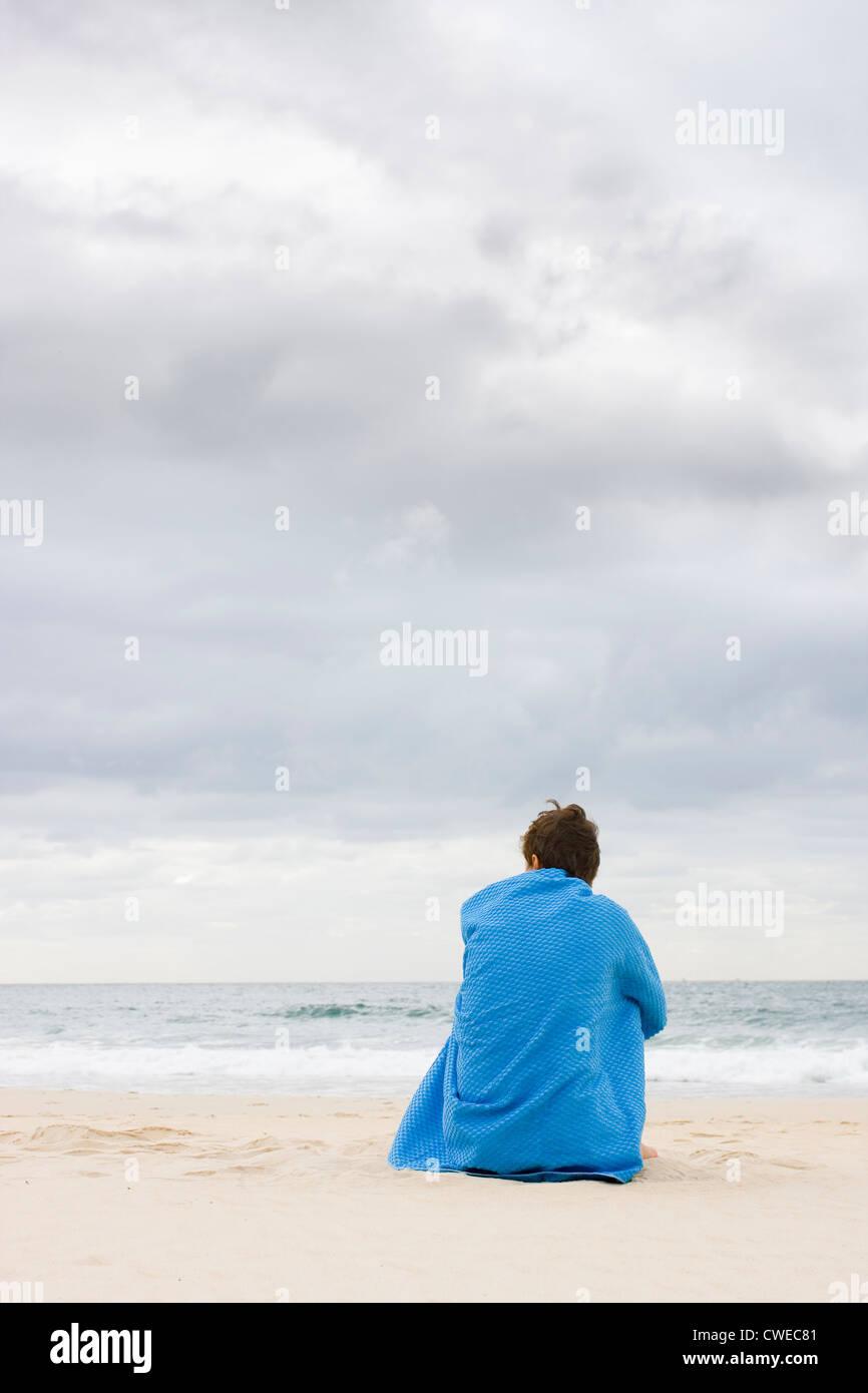 Einsamkeit, Einsamkeit, Sicherheit, allein Stockbild