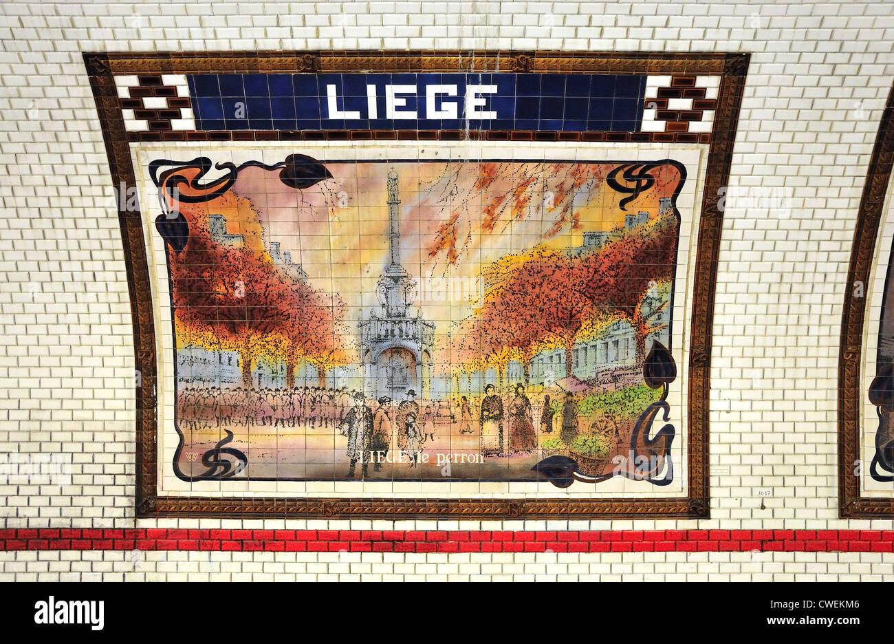 Liege Metro Station Metro Paris Stockfotos Liege Metro Station