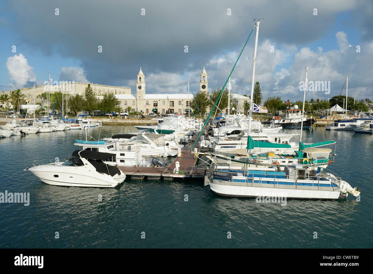 Königliche Marine Werft Marina, Bermuda Stockbild