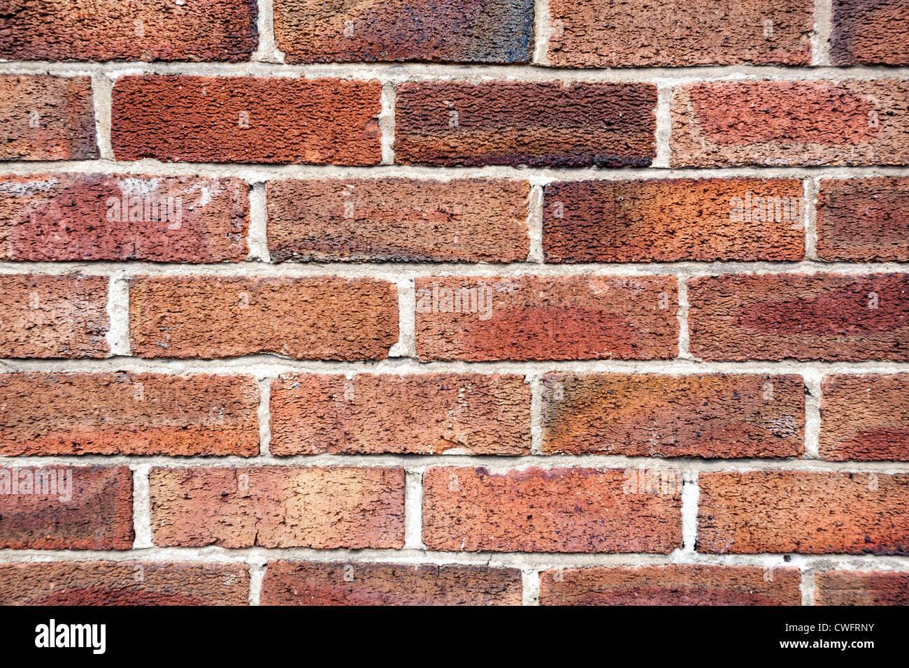 Roten Backsteinmauer. Stockbild