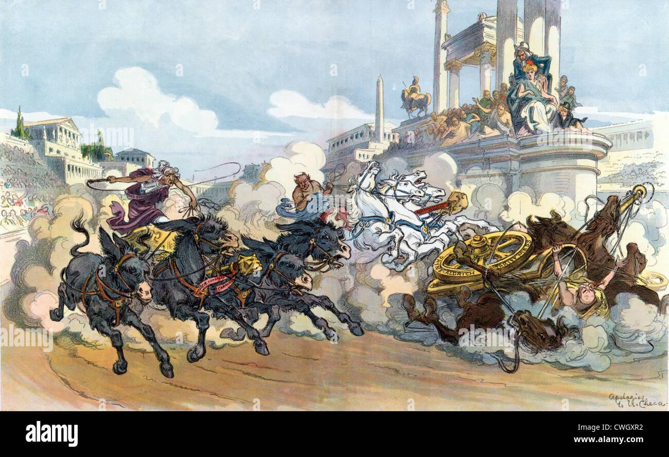 Chariot Rennen Abbildung Stockbild