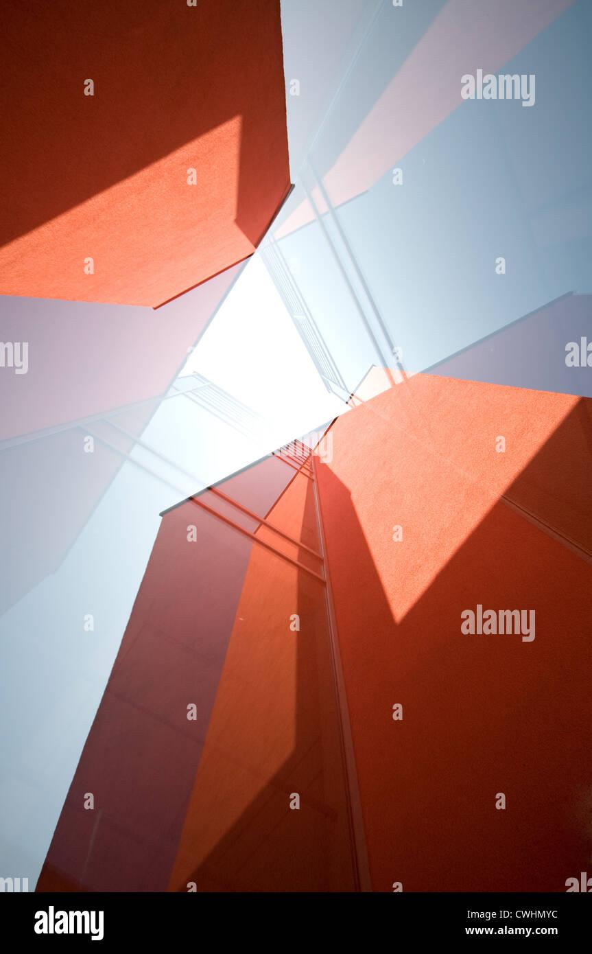 Design, Wolkenkratzer, abstrakte Stockbild