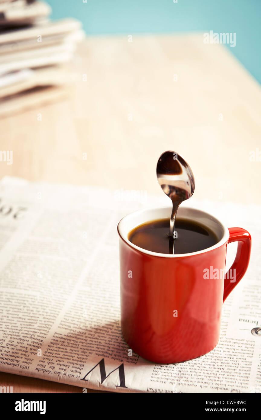 Humor, bizarre, Kaffee, Kaffeetasse Stockbild