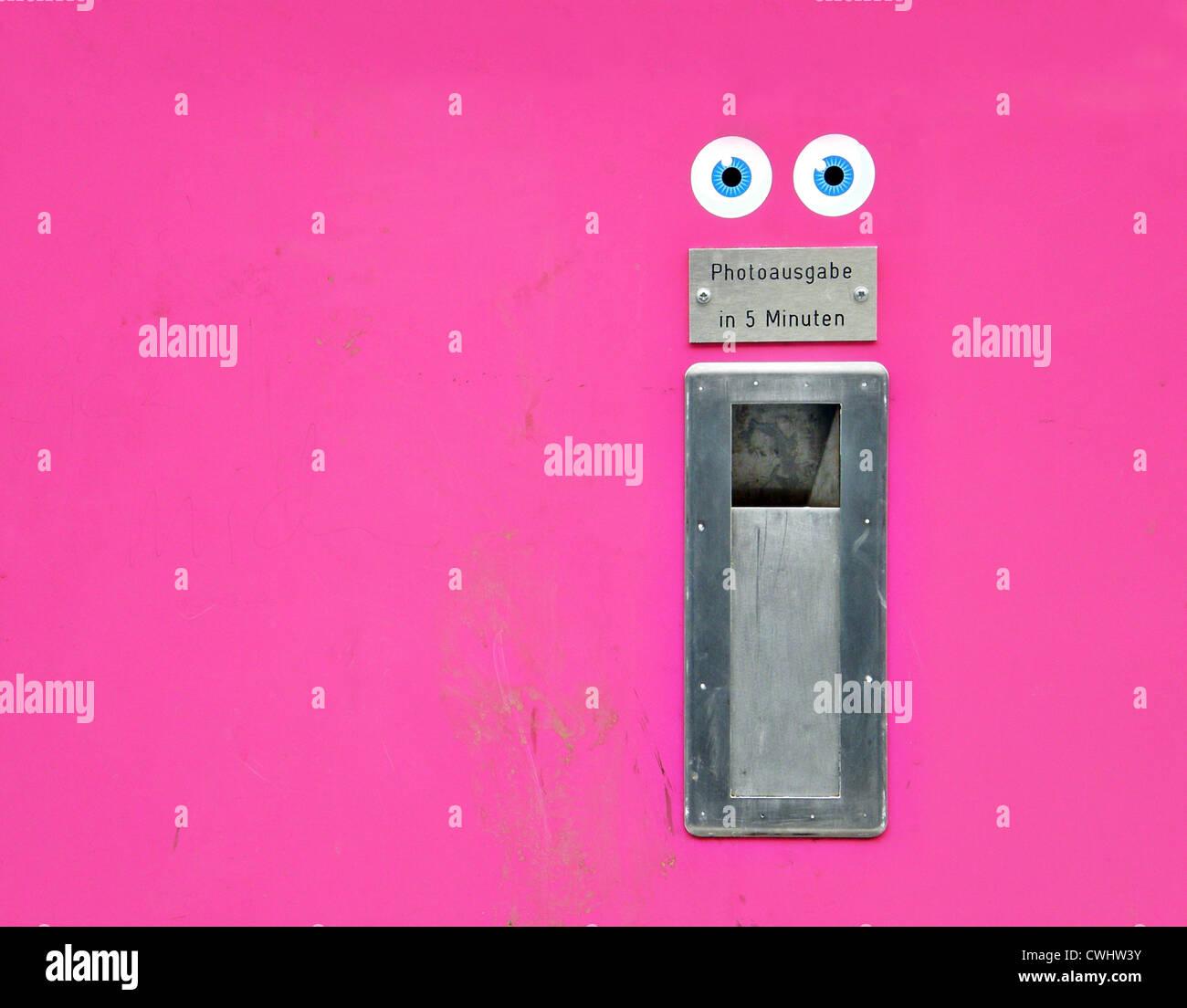 Gesicht, Humor, Skurril, Bild-Schreibtisch Stockbild