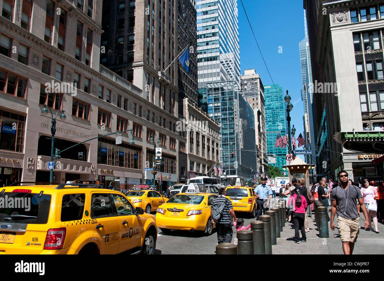 Park Cap Taxi Avenue East 42 street New York City Manhattan Stockbild