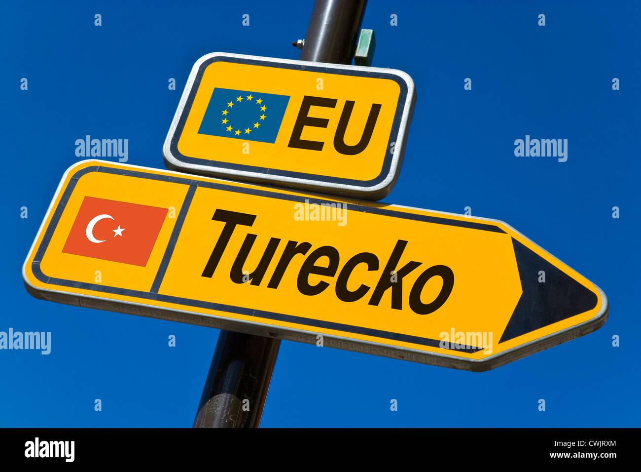 EU - Beitrittskandidat für die Mitgliedschaft 2010 - Türkei Stockfoto