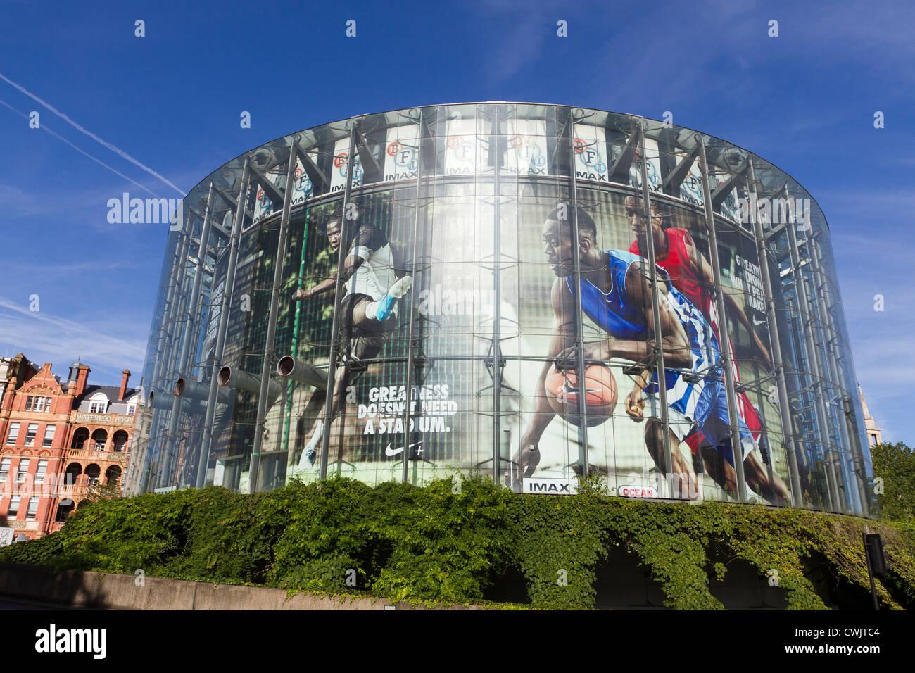 Das London BFI Imax Gebäude, London, England, UK Stockbild