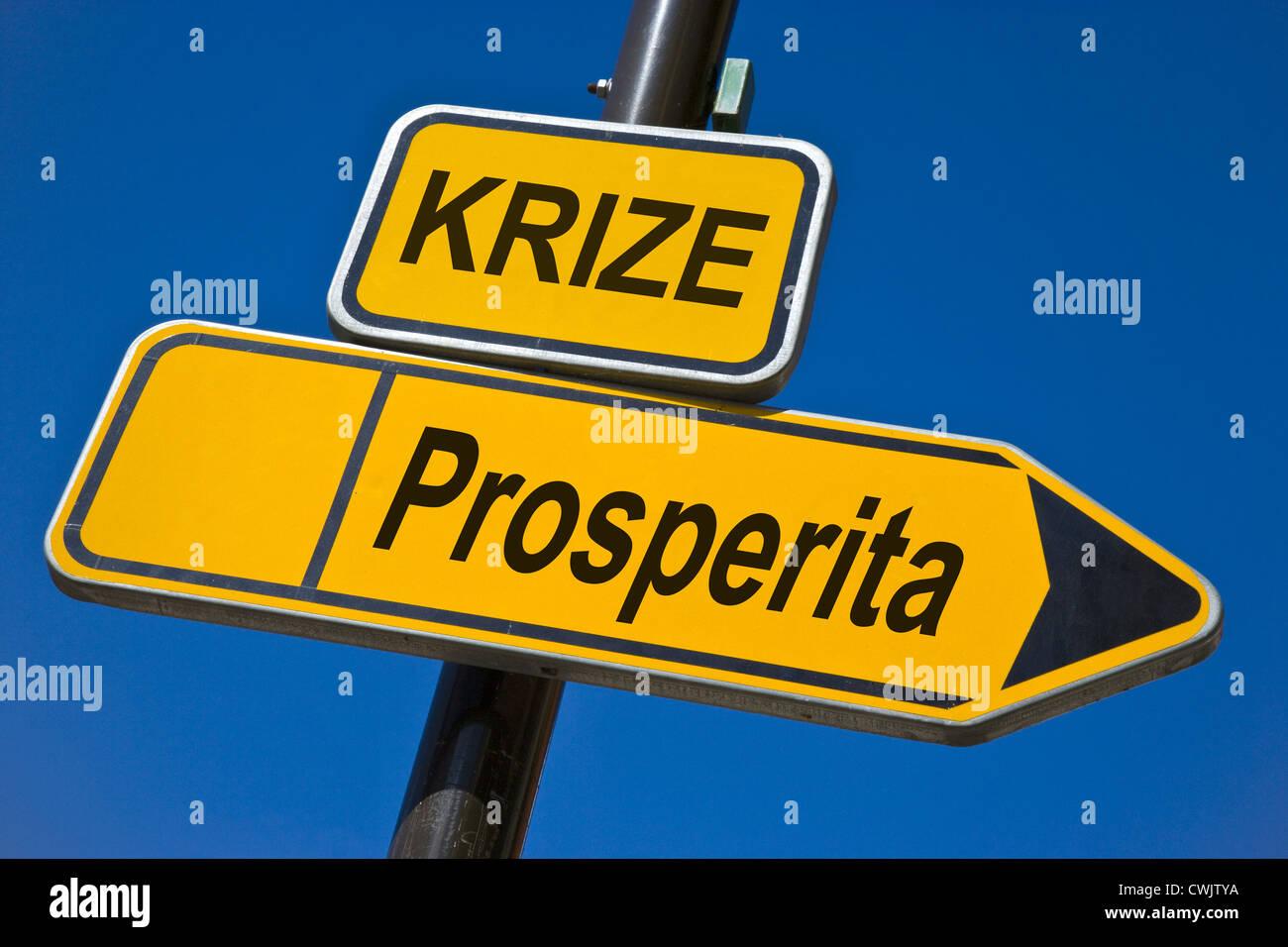 Tschechische Wirtschaft und Finanzen - Krise und des Wohlstands Stockbild