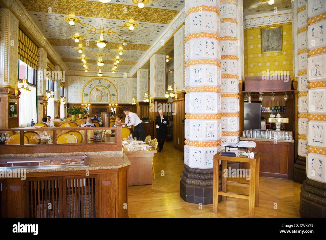 Art nouveau cafe restaurant prag art deco imperial hotel praha
