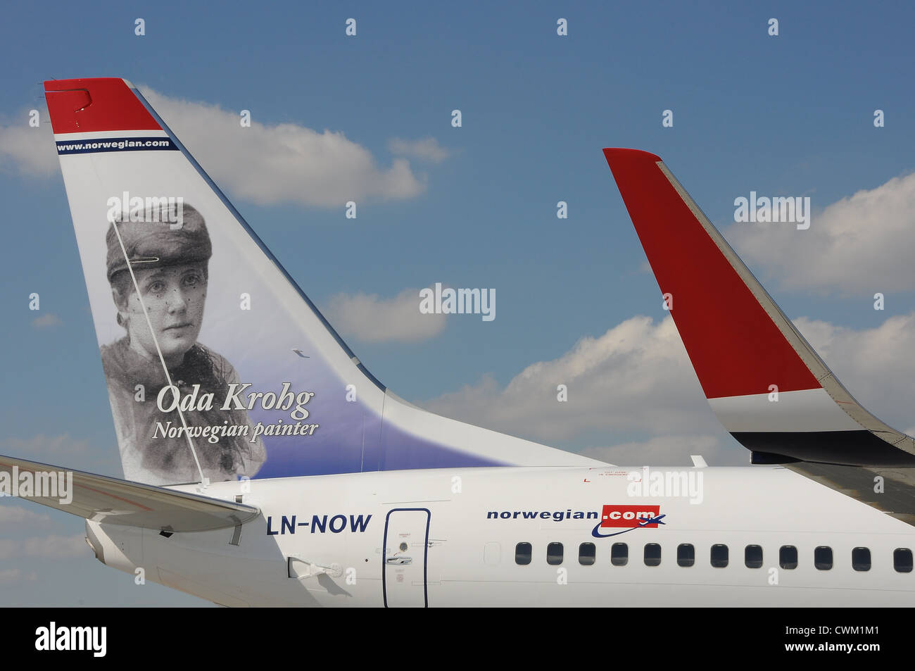 Norwegian Air Shuttle Stockbild