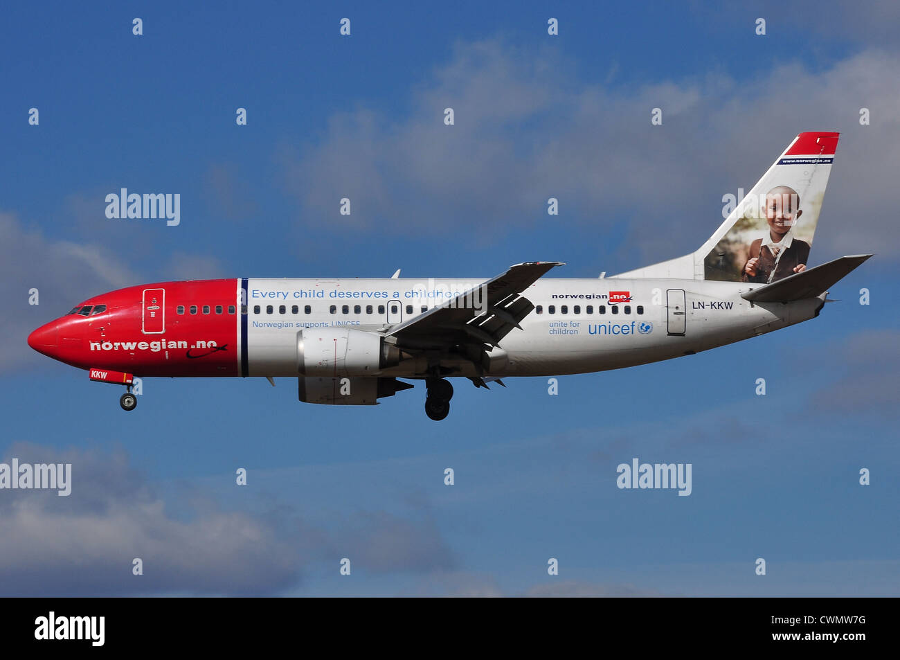 Boeing 737 der Norwegian Air Shuttle Stockbild