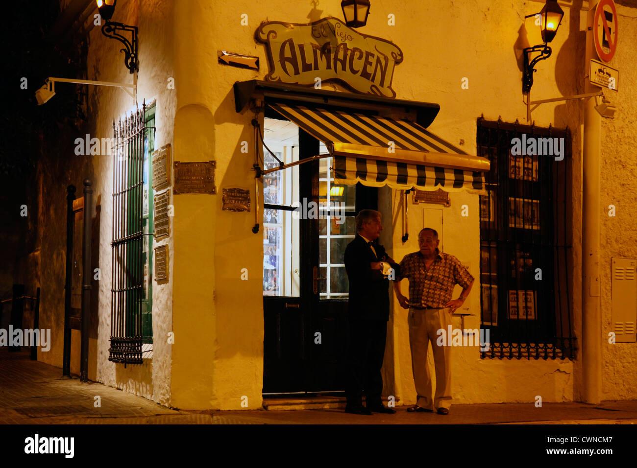 El Viejo Almacen, Buenos Aires, Argentinien. Stockbild