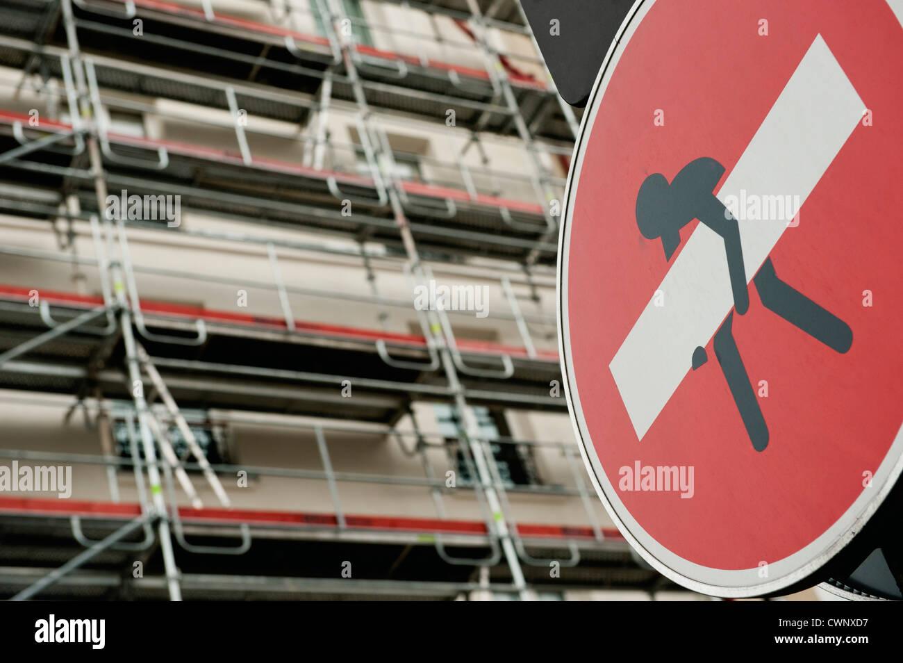 Geben Sie kein Zeichen verändert durch graffiti Stockbild