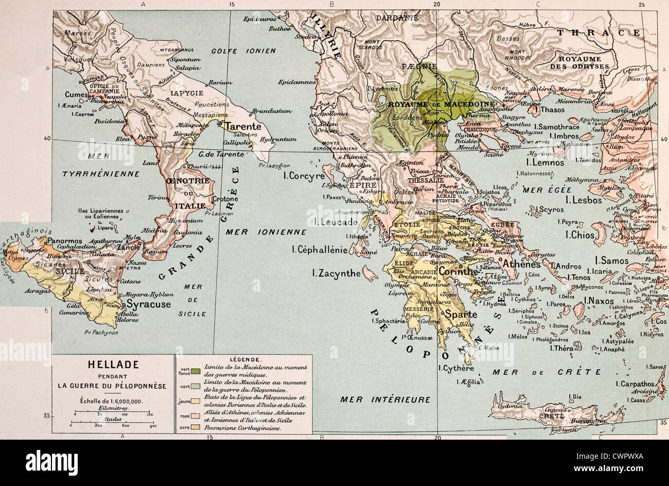 Peloponnes Karte Regionen.Map Of The Peloponnesus Stockfotos Map Of The Peloponnesus Bilder