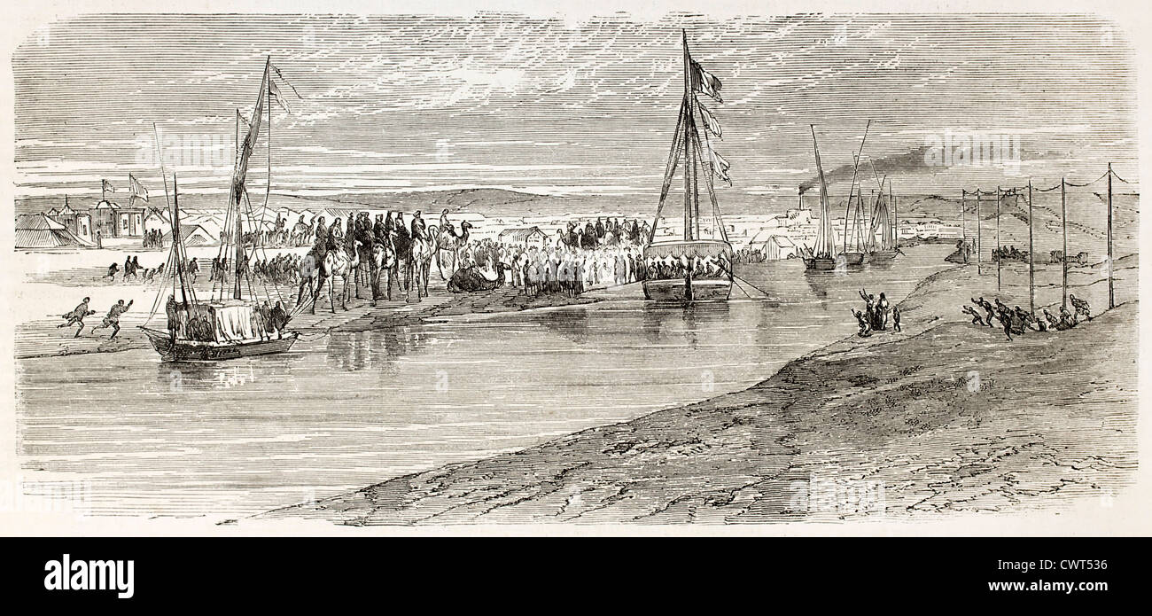 Napoleon-Prince Imperial Ankunft in Ismailia Stockbild