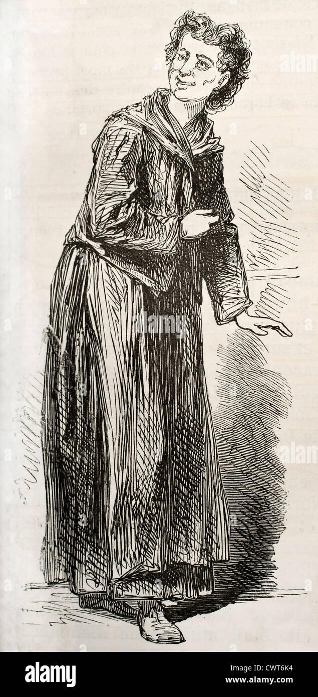 Geisteskranke gestörte Frau Stockbild