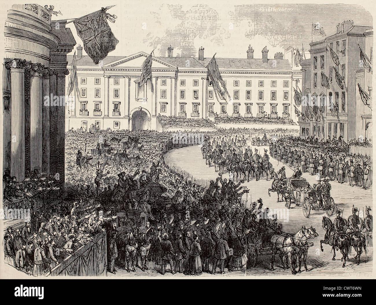 Prince Of Wales Ankunft in Dublin Stockbild